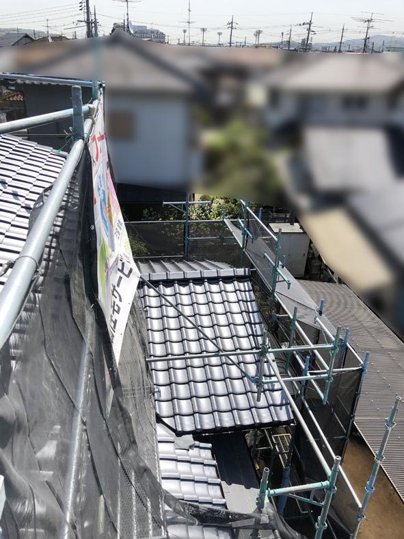大型改装物件の工事中 屋根の葺き替え完成✨